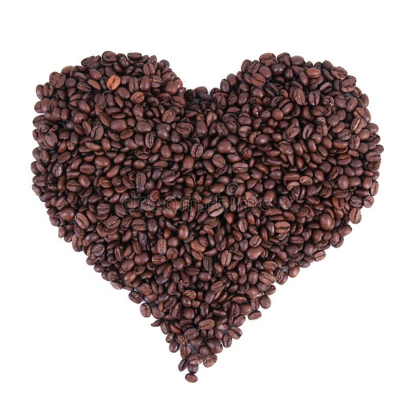 Kawowy hearth w białym tle fotografia stock