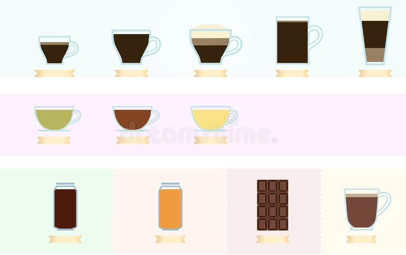 Kawowy i herbaciany Infographics ilustracji