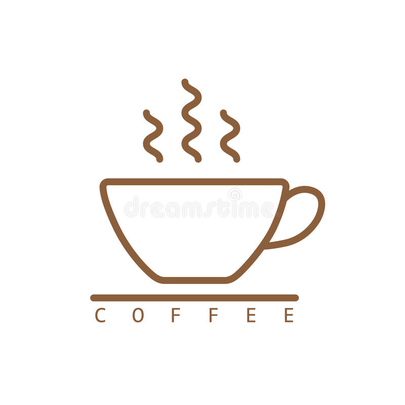Kawowy ikona wektor ilustracji