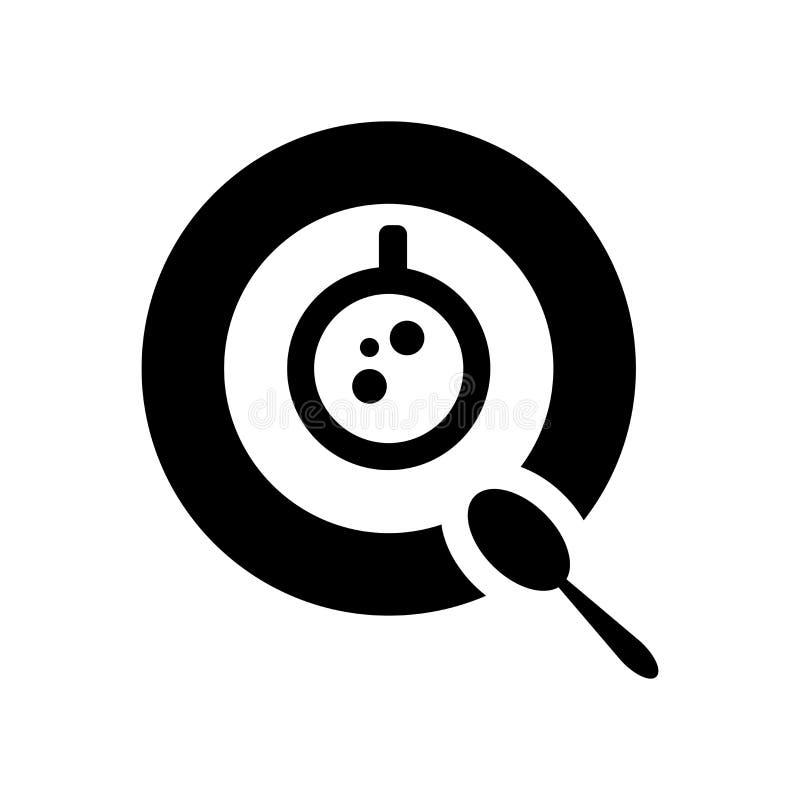 Kawowy ikona wektor odizolowywający na białym tle, kawa znak, karmowi symbole royalty ilustracja