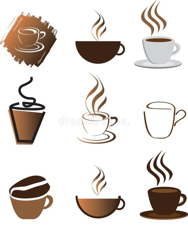 kawowy ilustracyjny set ilustracji