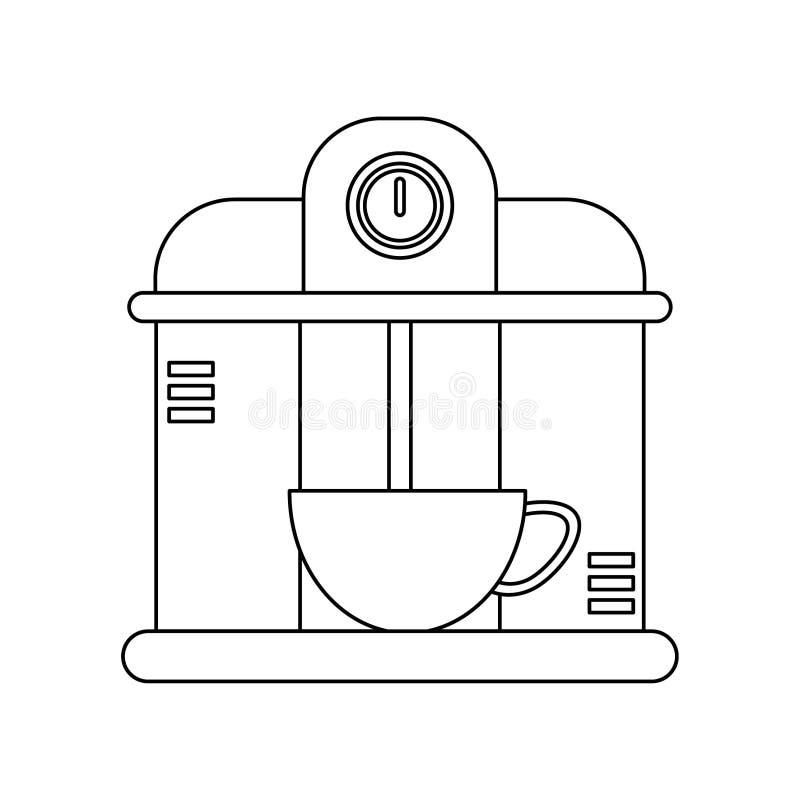 Kawowy kawy espresso maszyny s?uzy? nap royalty ilustracja