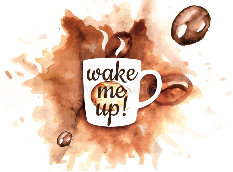 Kawowy kubek ilustracja wektor