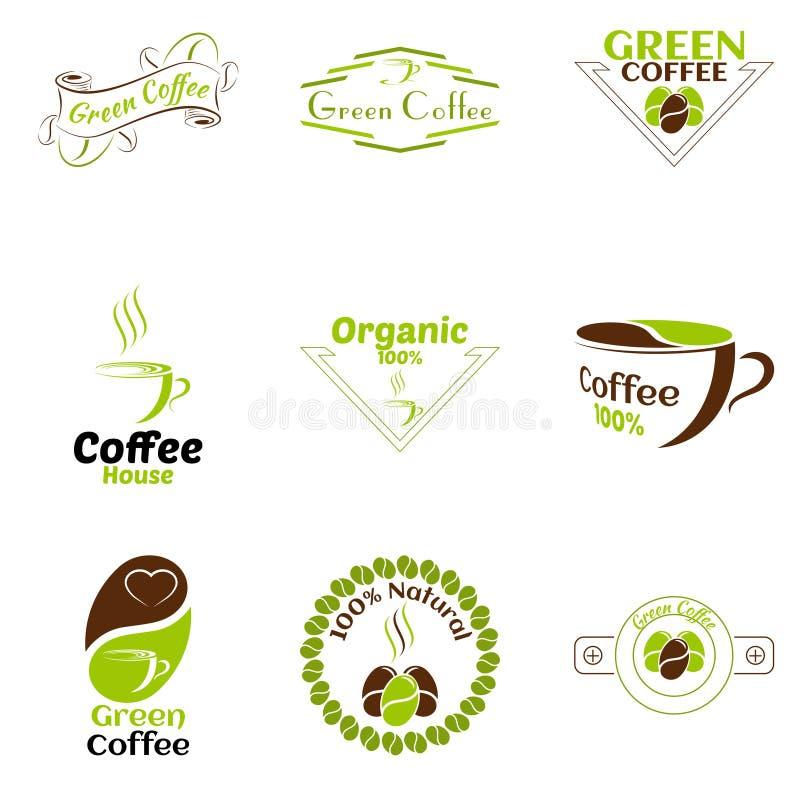 Kawowy loga projekta wektoru szablon ilustracja wektor