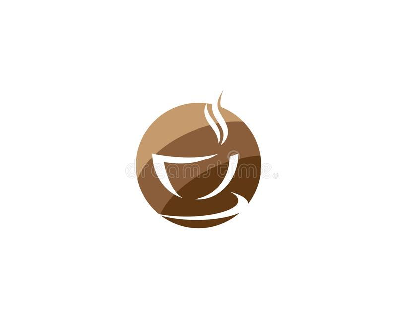 Kawowy loga szablon royalty ilustracja