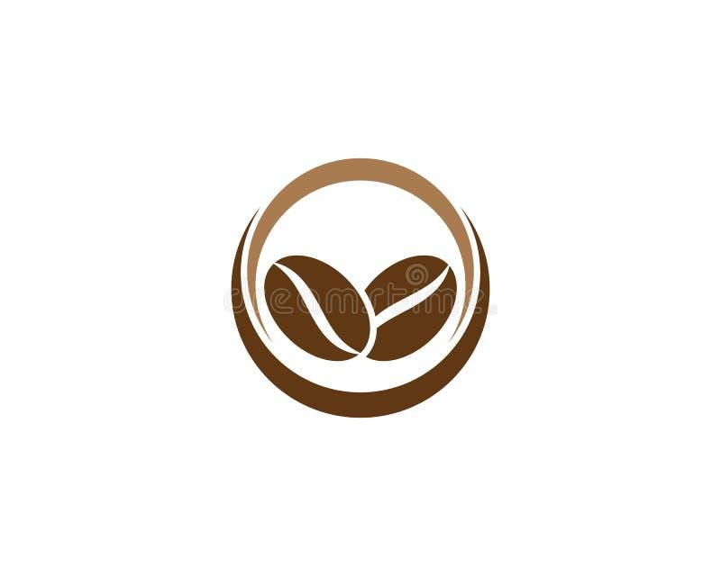 Kawowy loga szablon ilustracja wektor