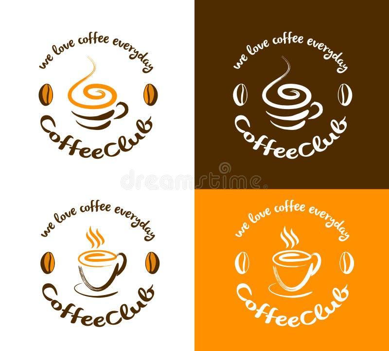 Kawowy logo ilustracji