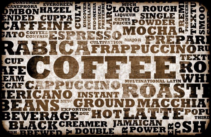 kawowy menu ilustracja wektor