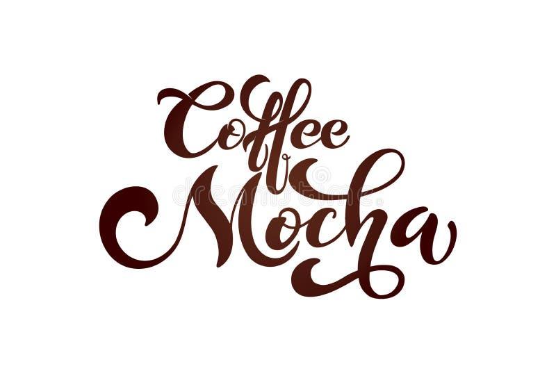 Kawowy mokka logo Typ kawa ilustracja wektor