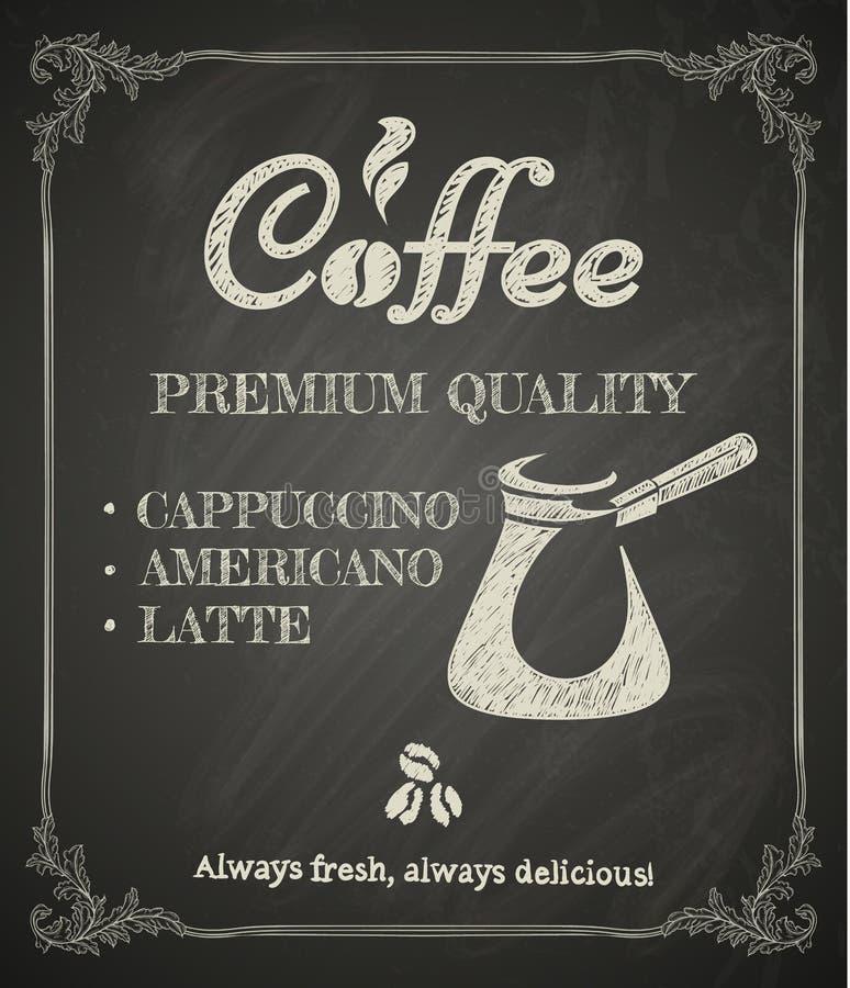 Kawowy plakat ilustracja wektor