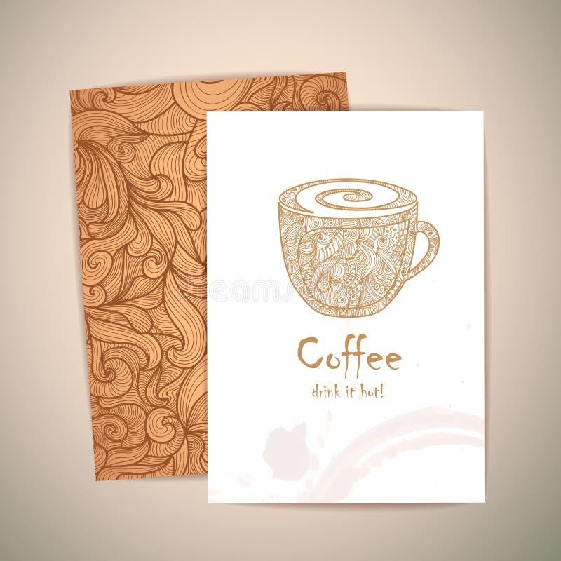 Kawowy pojęcie projekt Korporacyjny identiy royalty ilustracja