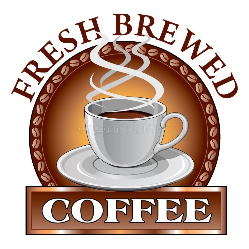Kawowy projekt Świeży royalty ilustracja