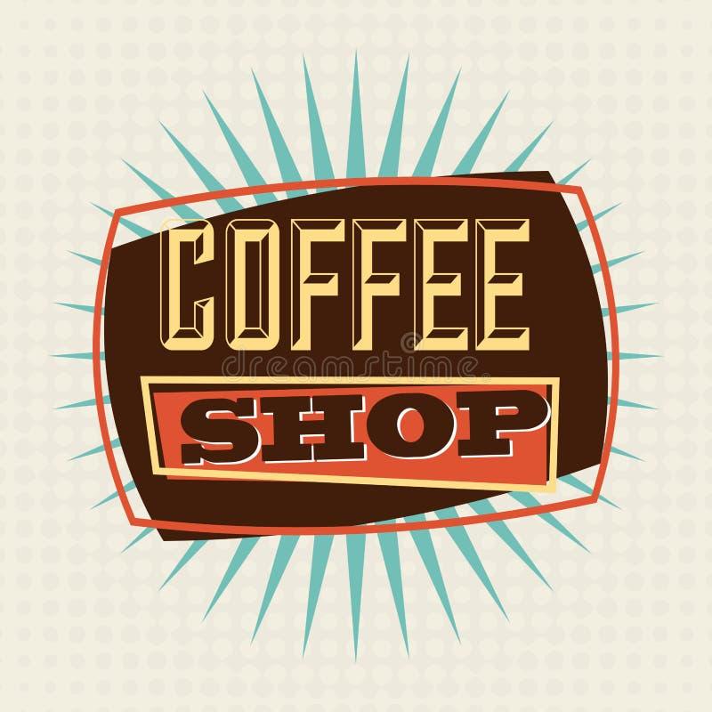 Kawowy projekt ilustracja wektor