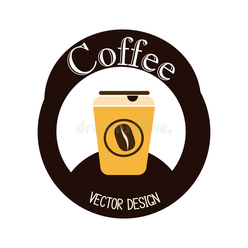 Kawowy projekt ilustracji
