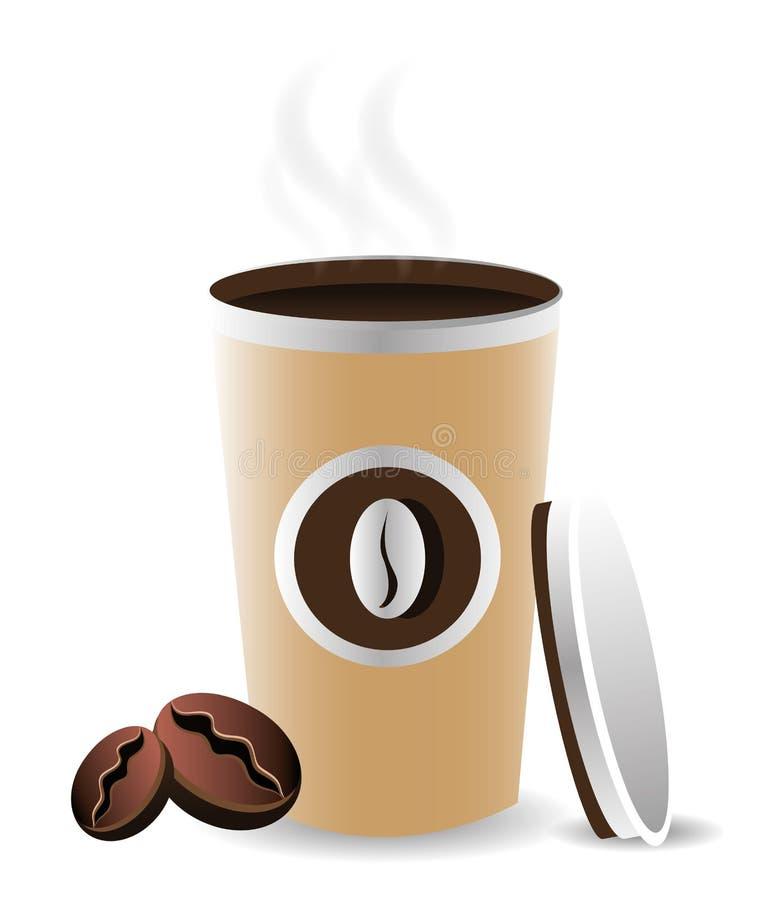 Kawowy projekt royalty ilustracja