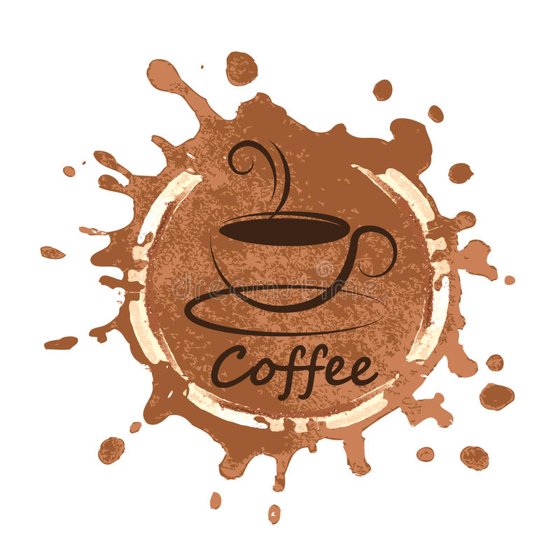 Kawowy projekt nad tło wektoru ilustracją ilustracja wektor