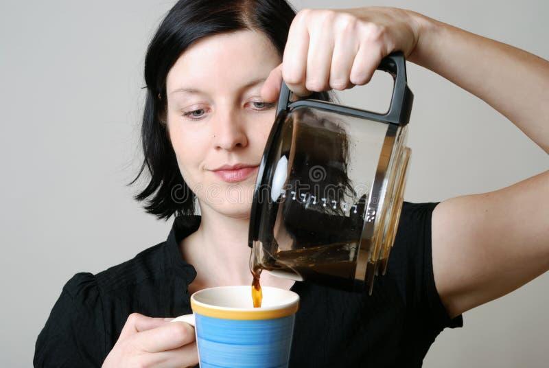 Download Kawowy ranek obraz stock. Obraz złożonej z kawa, model - 13325231