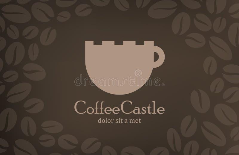 Kawowy rocznika loga projekta szablon. Cukierniany menu cov royalty ilustracja