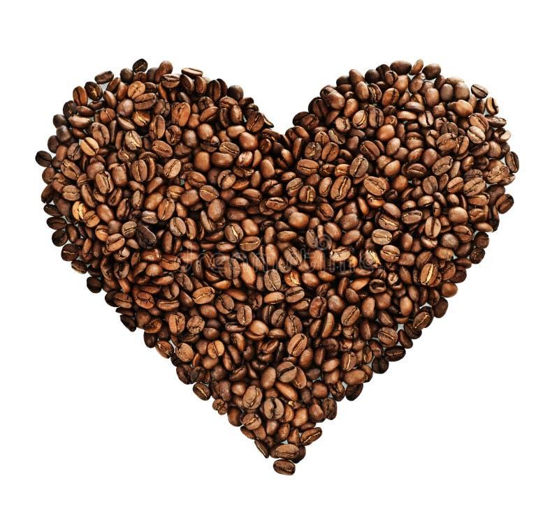 kawowy serce obraz stock