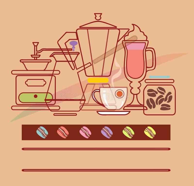 Kawowy skład ilustracji