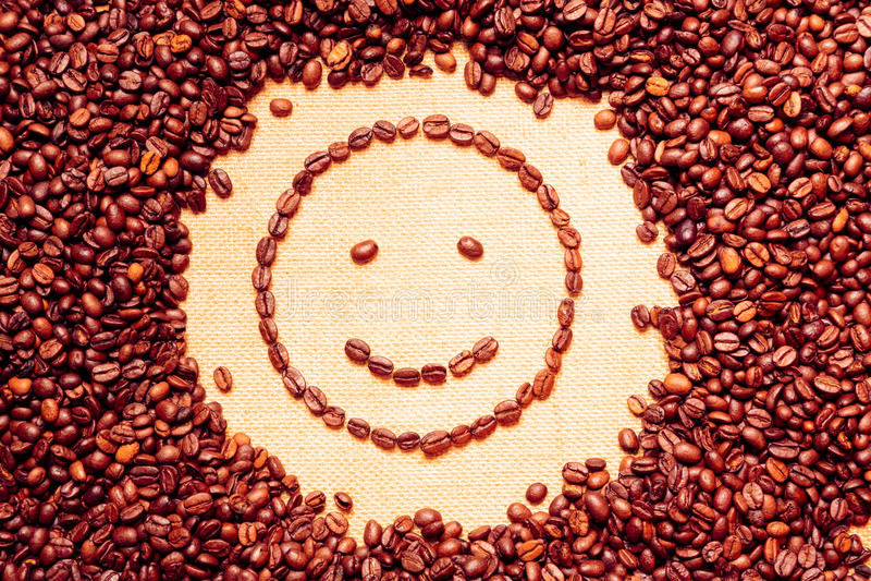Kawowy Smiley obraz royalty free