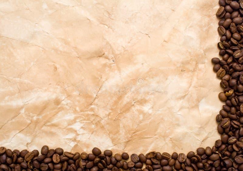 kawowy stary papier obraz stock