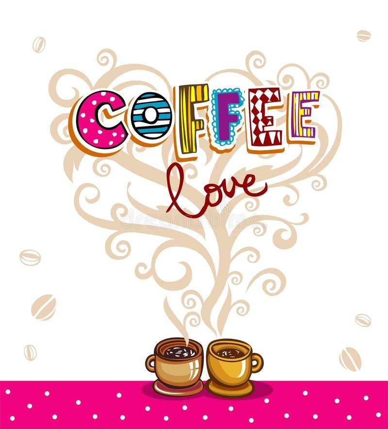 Kawowy tematu tło royalty ilustracja