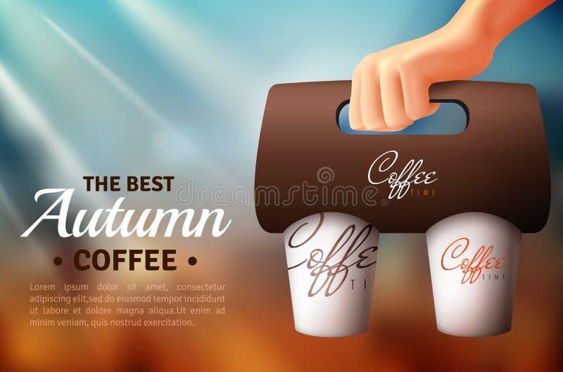Kawowy Uliczny Karmowy Pakuje plakat ilustracji