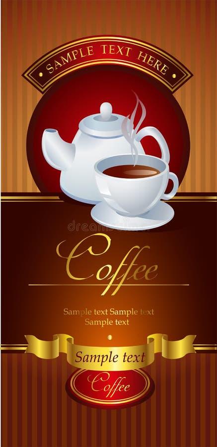 Kawowy wektorowy sztandar ilustracja wektor