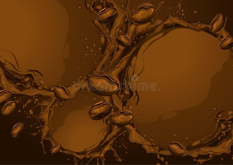 Kawowy wektorowy tło royalty ilustracja