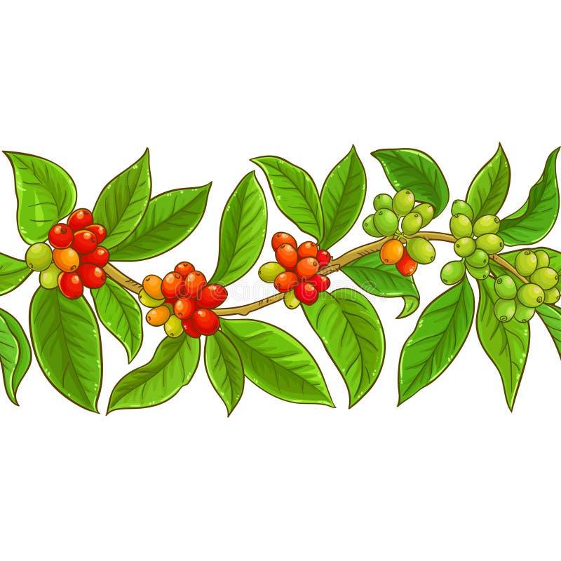 Kawowy wektoru wzór ilustracji