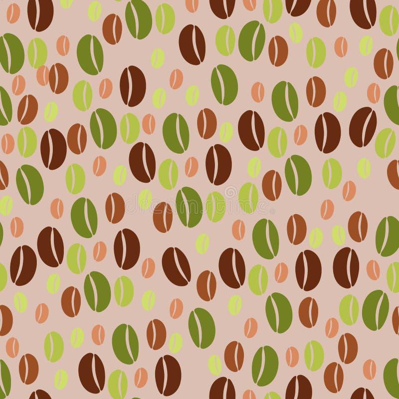 Kawowych fasoli bezszwowy deseniowy tło obrazy stock