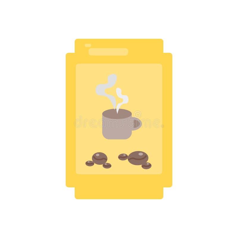 Kawowych fasoli ikony wektor odizolowywający na białym tle, Kawowe fasole podpisuje ilustracja wektor