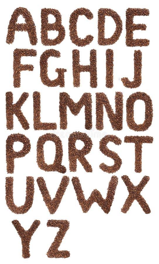Kawowych fasoli list zdjęcia royalty free