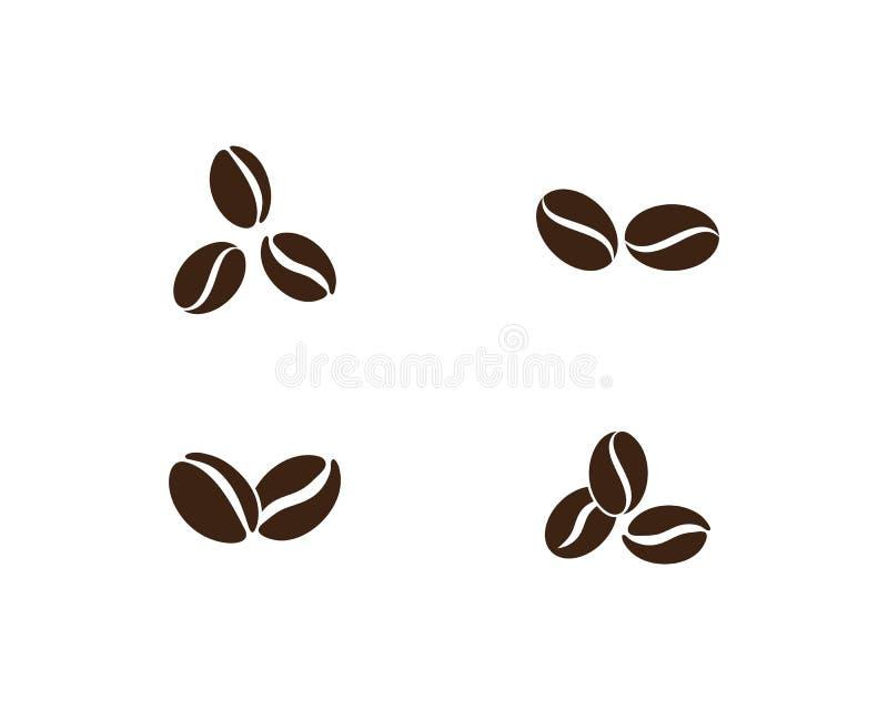 Kawowych fasoli loga szablon royalty ilustracja