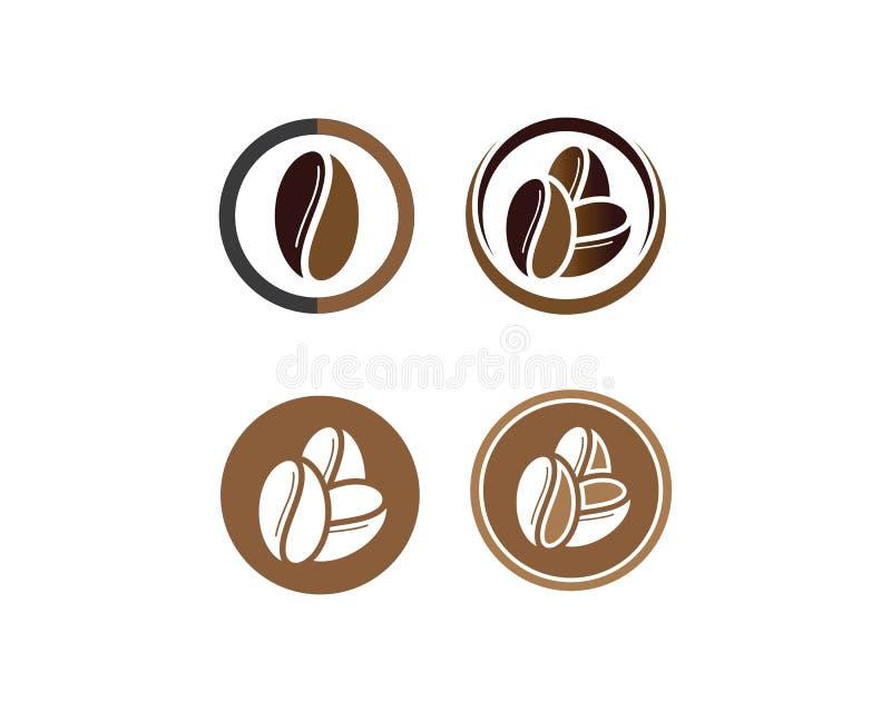 Kawowych fasoli logo szablonu wektoru ikona royalty ilustracja
