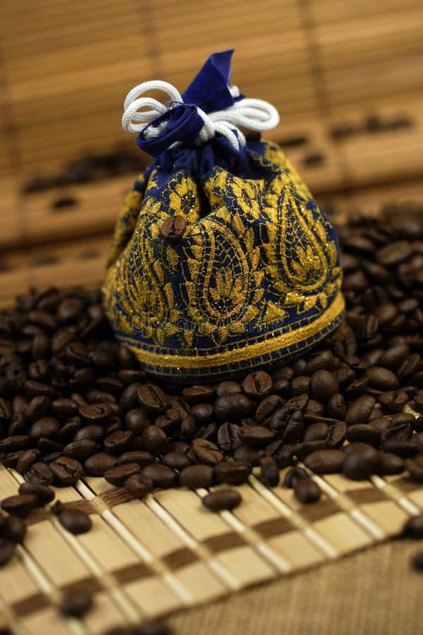 Kawowych fasoli torba fotografia royalty free