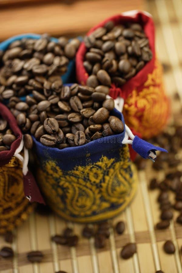 Kawowych fasoli torby zdjęcia stock