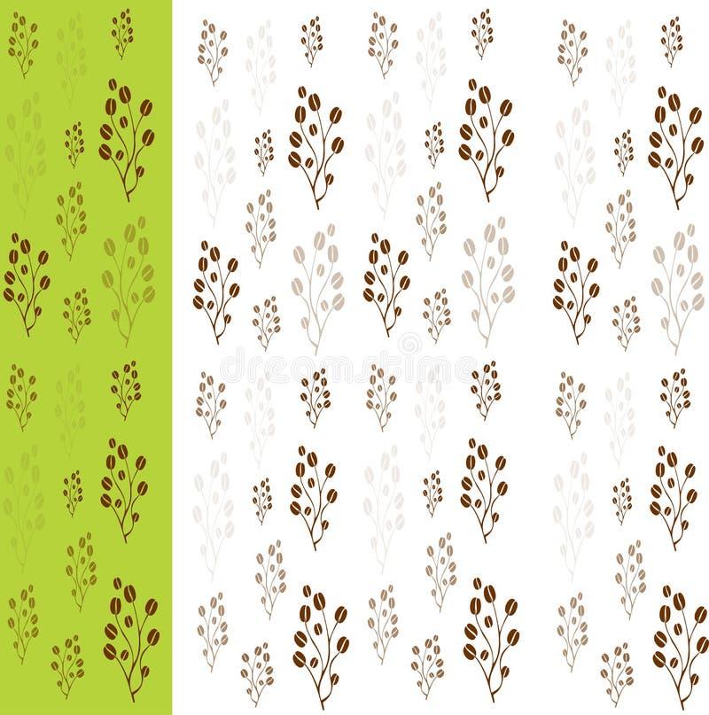 Kawowych fasoli wzór ilustracji