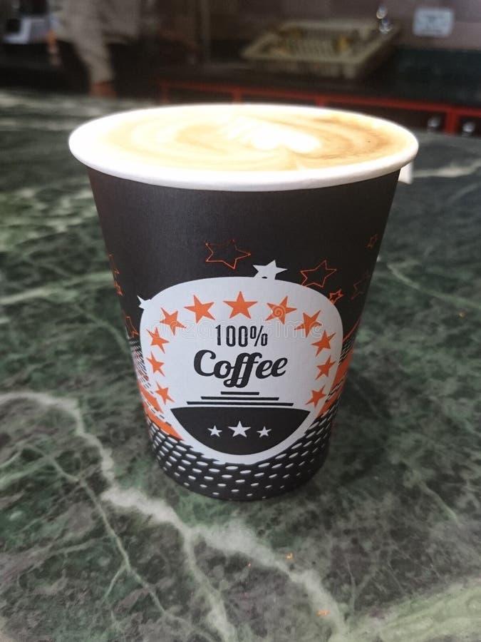 100% kawowych latte latteart fotografia royalty free