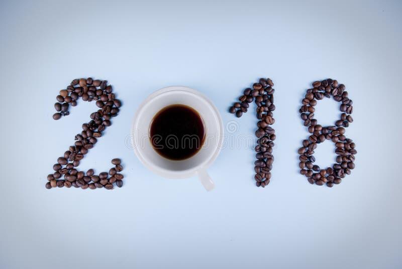 2018 Kawowych pojęć zdjęcie royalty free