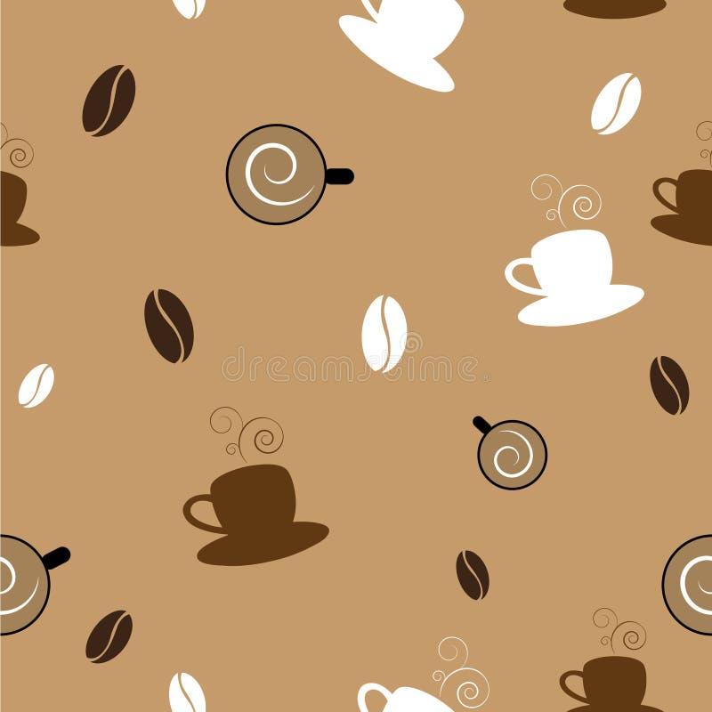 kawy bezszwowy deseniowy royalty ilustracja