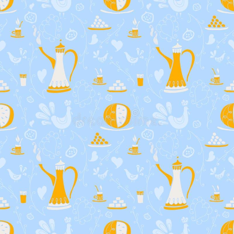 Kawy deseniowy Arabica royalty ilustracja