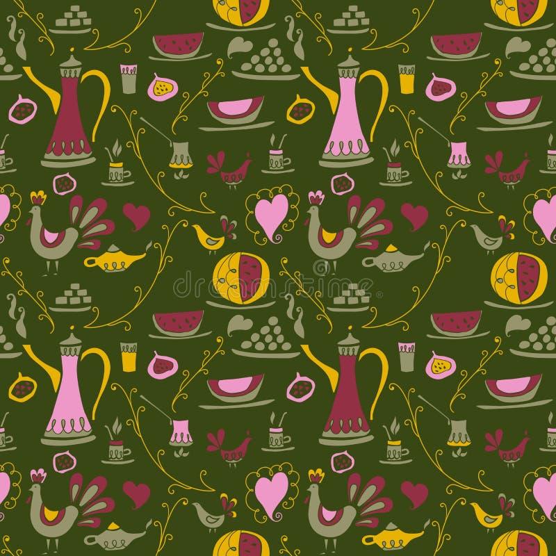 Kawy deseniowy Arabica ilustracji