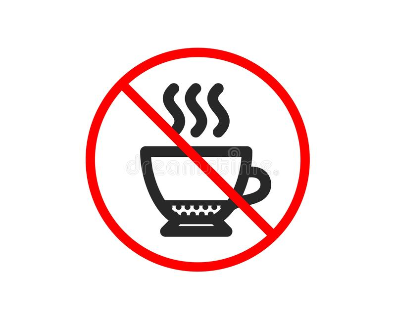 Kawy espresso kawy ikona Gor?cy napoju znak wektor royalty ilustracja