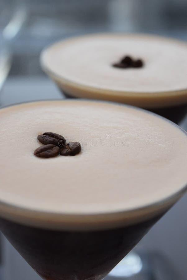 Kawy espresso Martini koktajl zdjęcie stock