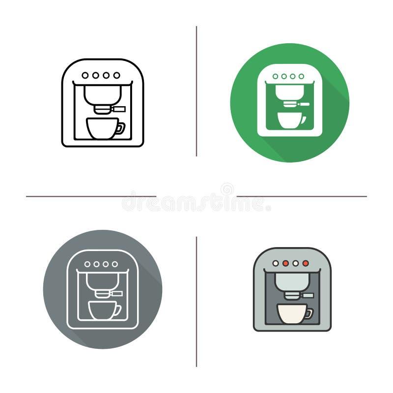 Kawy espresso maszyny ikona royalty ilustracja