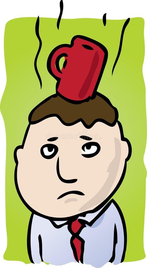 kawy głowa ilustracja wektor