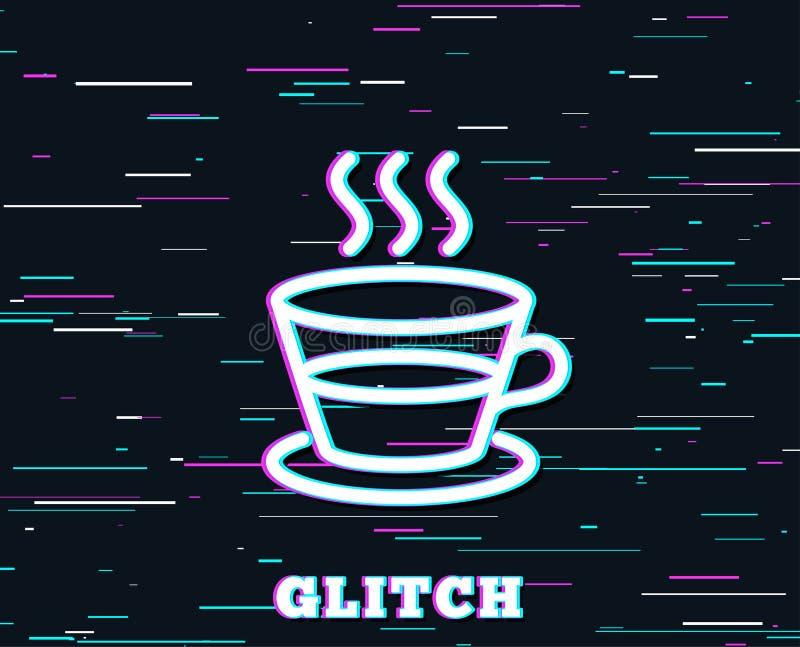 Kawy i herbaty kreskowa ikona Gorący napoju znak royalty ilustracja
