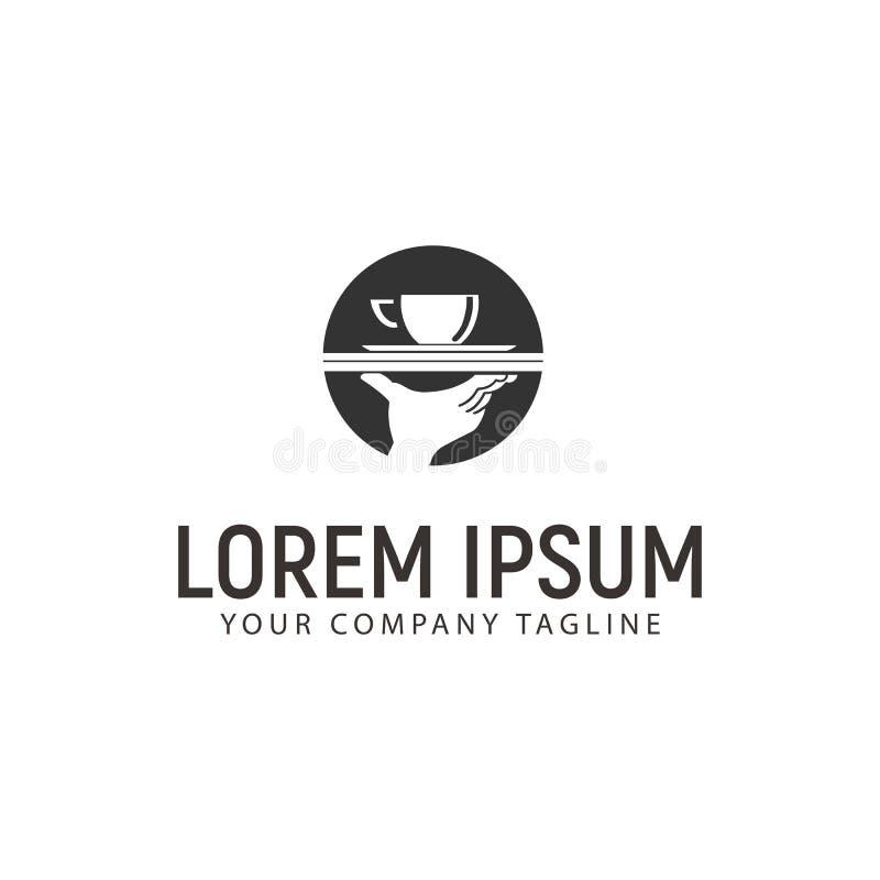 Kawy i ręki logo projekta pojęcia szablon ilustracji
